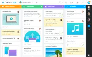 MeisterTask é uma ferramenta de gerenciamento de tarefas com boards flexíveis que adaptam-se perfeitamente a diferentes fluxos de trabalho, sendo uma ferramenta útil para programadores trabalhando com sprints, equipes de marketing usando o sistema Kanban ou para gerentes solo que buscam um sistema simples para fazer listas de tarefas. Possui integrações com muitas ferramentas, como Slack, GitHub e Zendesk. Além disso, existem recursos extras de calendário para agendar reuniões e estipular prazos em um só lugar. O plano básico é totalmente gratuito!